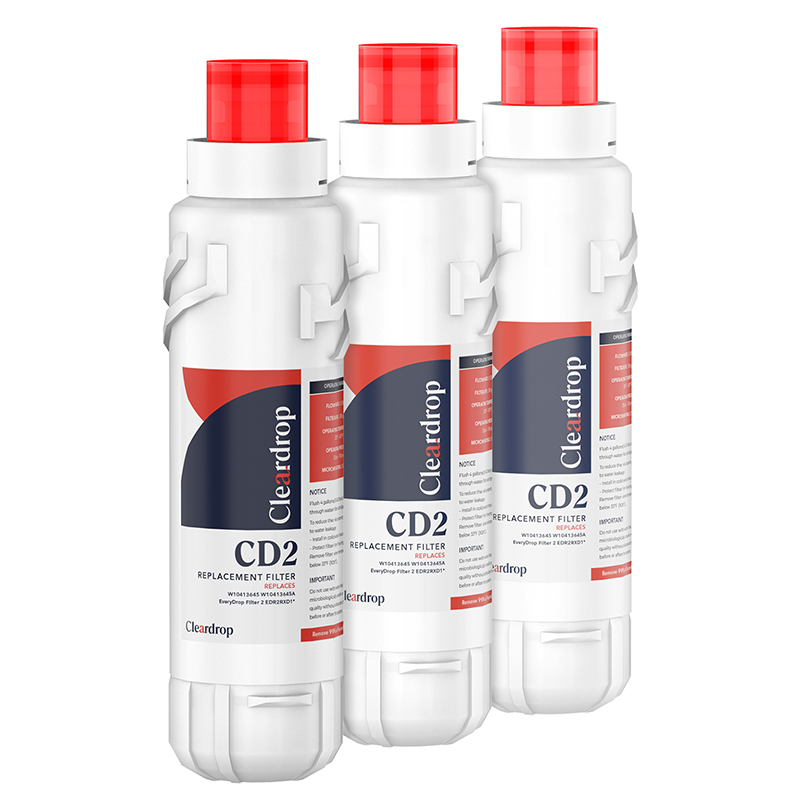 3pk W10413645A Refrigerator Water Filter EDR2RXD1 by Cleardrop