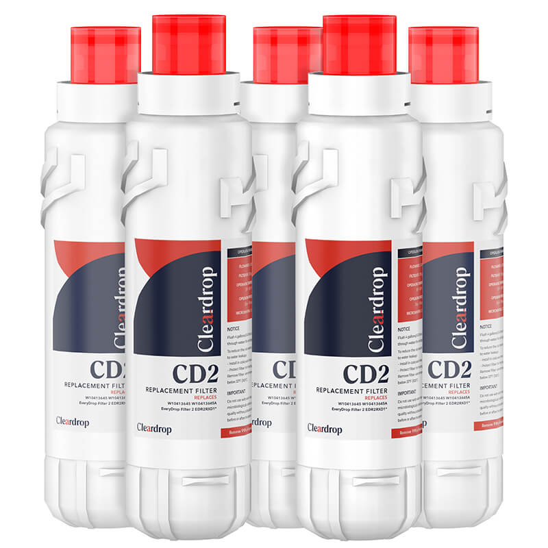 5pk EDR2RXD1, W10413645A, 9082 Refrigerator Water Filter2 by Cleardrop