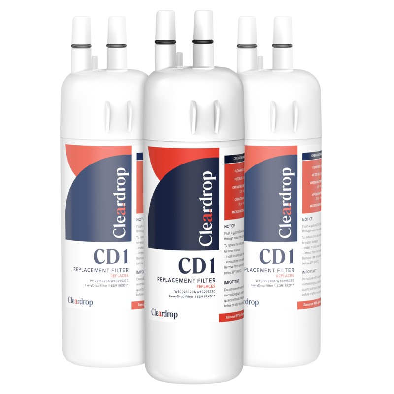 3pk W10295370A, EDR1RXD1, 9081 Refrigerator Water Filter1 By Cleardrop