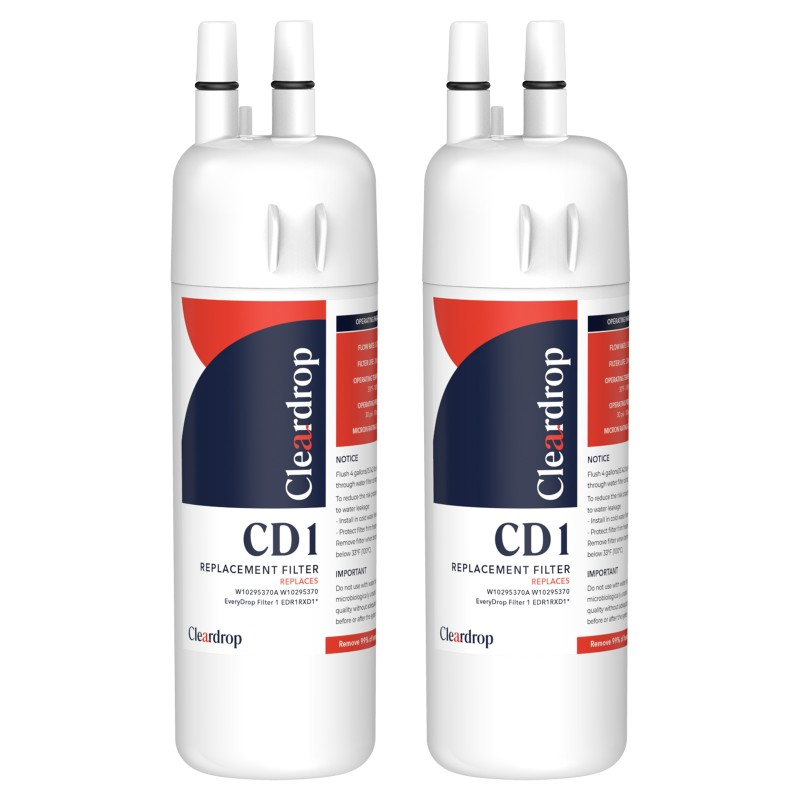 2pk W10295370A, EDR1RXD1, 9081 Refrigerator Water Filter1 By Cleardrop
